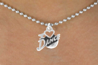 I Heart Dance necklace (silver tone)